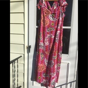 Zac Posen For Target Floral Open Back Maxi Dress